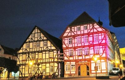 Eschwege bei Nacht Rathaus